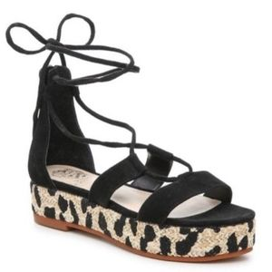 Vince Camuto Shoes - Womens Vince camuto leopard print wedges platforms